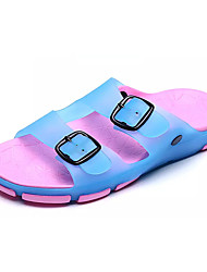 Women's Sandals Comfort PVC Summer Casual Walking Comfort Rivet Flat Heel Fuchsia Light Blue Khaki 2in-2 3/4in