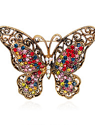 cheap -Women's Girls´ Brooches Euramerican Fashion Personalized Rhinestone Glass Alloy Crown Rainbow Black Blue Red Purple Jewelry ForWedding