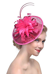 Women's Retro Feather / Tulle / Net Headpiece-Wedding / Special Occasion Flower Fascinators Bride Headbands 1 Piece Hair Accessories