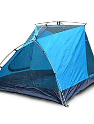 Недорогие -3-4 человека Световой тент Двойная Палатка Однокомнатная Семейные палатки Влагонепроницаемый Хорошая вентиляция Водонепроницаемость С