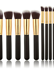 cheap -10pcs makeup brush sets tools cosmetic brush foundation eyeshadow eyeliner lip powder brush maquillage