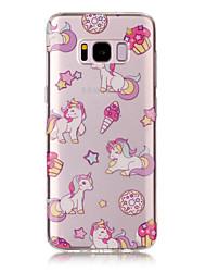 economico -Custodia Per Samsung Galaxy S8 Plus S8 IMD Transparente Fantasia/disegno Custodia posteriore Unicorno Morbido TPU per S8 S8 Plus S7 edge