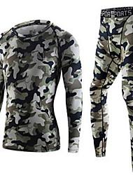 preiswerte -Unisex Trainingsanzug Atmungsaktiv Trainingsanzug Kleidungs-Sets für Übung & Fitness Laufen 100% Polyester Orange Armeegrün M L XL XXL