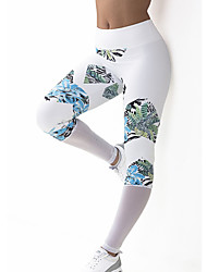 Women's Sporty Look Polyester Medium Cross - spliced Legging,Patchwork