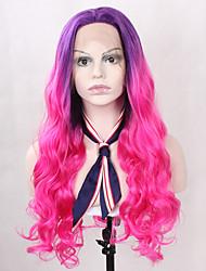 Недорогие -жен. Синтетические кружевные передние парики Длиный Волнистый Красный Парик из натуральных волос Парики к костюмам