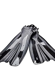 cheap -Swim Fins / Diving Fins Adjustable Strap, Long Blade Snorkeling, Diving, Swimming PVC - for Adults Black