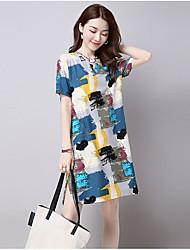 cheap -Women's Loose Dress - Geometric Low Rise