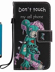 preiswerte -Hülle Für Samsung Galaxy A5(2017) A3(2017) Kreditkartenfächer Geldbeutel mit Halterung Ganzkörper-Gehäuse Cartoon Design Hart PU-Leder für