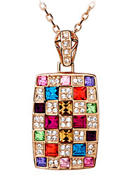 Pendant Necklaces Austrian Crystal Luxury Colorful Queen's Gift Jewelry