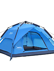 cheap -DesertFox® 3-4 persons Tent Double Camping Tent One Room Automatic Tent Waterproof Rain-Proof for Camping 2000-3000 mm Oxford-200*180*130