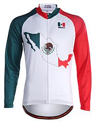 Miloto Maglia da ciclismo Per uomo Manica lunga Bicicletta Felpa Maglietta/Maglia Maglietta Top Asciugatura rapida Permeabile all'umidità