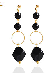 cheap -Women's Black Gemstone Drop Earrings / Earrings - Personalized, Bohemian, Basic White / Black For Christmas Gifts / Wedding / Party / Special Occasion / Anniversary / Birthday / Housewarming