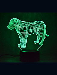 cheap -Lion Turtles Touch Dimming 3D LED Night Light 7Colorful Decoration Atmosphere Lamp Novelty Lighting Light