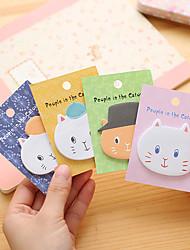 Angora Cartoon Cats Self-Stick Notes 1 PCS Random Color