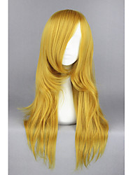 Donna Parrucche sintetiche Senza tappo Medio Lisci Castano dorato Parrucca Cosplay costumi parrucche