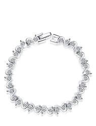 billige -Dame Krystal Kæde & Lænkearmbånd Charm-armbånd - Krystal Armbånd Sølv Til Bryllup Fest Daglig