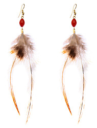 lureme® Drop Earrings Jewelry Tattoo Style Turkish Euramerican Vintage Personalized Hypoallergenic Feather Alloy Geometric Wings / Feather Jewelry