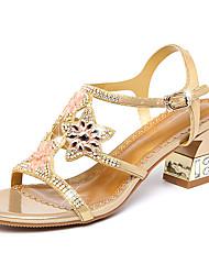 Недорогие -Жен. Обувь Кожа Микроволокно Лето Осень Удобная обувь Оригинальная обувь клуб Обувь Сандалии Для прогулок На толстом каблуке Открытый мыс
