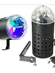 Недорогие -Светодиодные театральные лампы Волшебный светодиодный мяч Дисконтный клуб Party DJ Show Lumiere LED Crystal Light Лазерный проектор 3W -