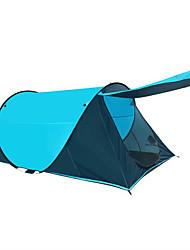 Недорогие -2 человека Семейный кемпинг-палатка На открытом воздухе Водонепроницаемость Компактность С защитой от ветра Однослойный Палатка 2000-3000 mm для Охота Рыбалка Пешеходный туризм Фиберглас Сетка