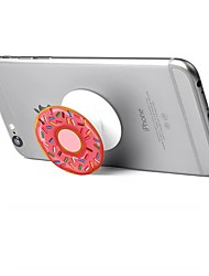 cheap -1 pc Phone Stand Holder  Doughnut Pattern Plastic Telescopic Support 360 Rotating for Mobile Phone