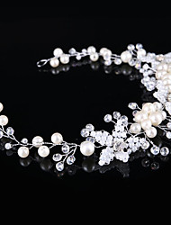 Imitation Pearl Rhinestone Alloy Tiaras Headbands Hair Pin Headpiece