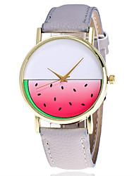 baratos -Mulheres Relógio de Pulso Chinês Legal Couro Banda Brilhante / Casual / Fashion Preta / Branco / Marrom