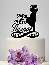 Cake Topper Garden Theme Classic Theme Classic Couple Acrylic Wedding Anniversary Bridal Shower With OPP