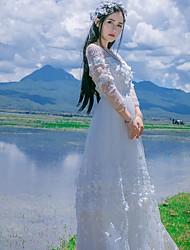 Un Pezzo/Vestiti Lolita Classica e Tradizionale Ispirazione Vintage Elegant Da principessa Cosplay Vestiti Lolita Rosa Bianco Blu Di