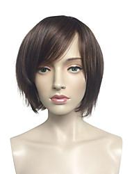 Donna Parrucche sintetiche Senza tappo Pantaloncini Lisci Kinky liscia Nero Parrucca naturale costumi parrucche