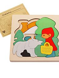 Quebra-Cabeça Quebra-Cabeças de Madeira Brinquedos Quadrada Animais Crianças Peças