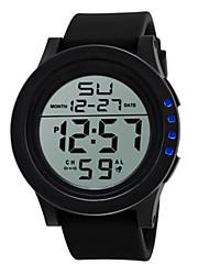 Мужской Спортивные часы электронные часы Китайский Цифровой силиконовый Группа Черный