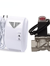 Standalone LPG Natural Gas Leak Detector Alarm With DN20 Electromagnetic Solenoid Valve for Gas Leakage Auto Shut Off for Home Security