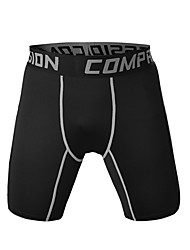 cheap -Men's Running Shorts Quick Dry Breathable Soft Comfortable Shorts Bottoms Exercise & Fitness Leisure Sports Running Polyester Tight Black