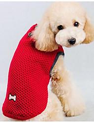 Недорогие -Собака Свитера Одежда для собак Мультипликация Темно-синий Красный Шелковая ткань Хлопок Костюм Назначение Зима Муж. Жен. На каждый день Мода