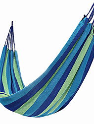 cheap -Camping Hammock Outdoor Portable, Moistureproof, Well-ventilated Canvas for Hunting / Hiking / Fishing - 1 person Red / Blue