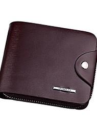 Недорогие -Муж. Мешки Полиэстер / PU Бумажники / В одно сложение для Для шоппинга / Офис и карьера Черный / Кофейный