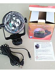 Недорогие -Светодиодные театральные лампы Волшебный светодиодный мяч Дисконтный клуб Party DJ Show Lumiere LED Crystal Light Лазерный проектор 3W - -