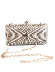 preiswerte -Damen Taschen PU Metall Unterarmtasche Crystal / Strass für Hochzeit Veranstaltung / Fest Formal Büro & Karriere Ganzjährig Gold