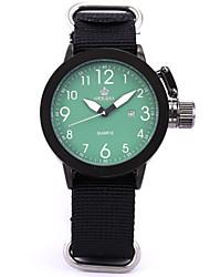 Недорогие -Муж. Модные часы Кварцевый Цифровой силиконовый Нейлон Черный 30 m Аналоговый Белый Зеленый