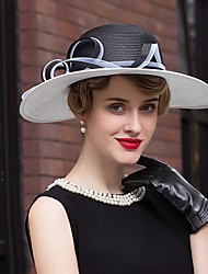 abordables -cestería sombreros headpiece wedding party elegante estilo femenino