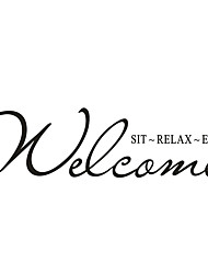 cheap -Wall Stickers Wall Decals Style Welcome English Words & Quotes PVC Wall Stickers
