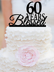 cheap -Cake Topper Garden Theme Classic Theme Acrylic Wedding Anniversary Birthday Bridal Shower With OPP