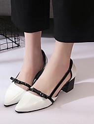 Da donna-Tacchi-Ufficio e lavoro Formale-Comoda Club Shoes-Quadrato-Vernice-