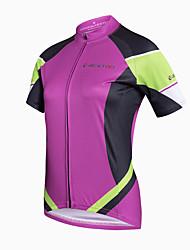 Realtoo Maglia da ciclismo Per donna Manica corta Bicicletta Maglietta/Maglia Top Asciugatura rapida Traspirante Materiali leggeri Tasca