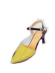 cheap -Women's Sandals Summer Comfort Pigskin Outdoor Low Heel Ribbon Tie Green Rose Pink Walking