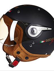 Beon B-110a Motorrad halber Helm Harley Helm abs Anti-Fog Anti-UV-Schutzhelm Unisex Mode matt schwarz