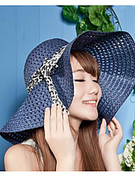 Hollow Summer Straw Hat Cap Wide Brim Hawaii Folding Soft Sun Hat Casual Foldable Brimmed Beach Hats For Women