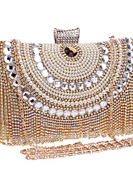 Women Bags All Seasons Polyester Evening Bag Crystal/ Rhinestone for Wedding Event/Party Formal Blue Gold Black Silver Red
