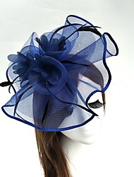 cheap -Tulle / Feather / Net Fascinators / Hats / Birdcage Veils with 1 Wedding / Special Occasion Headpiece